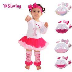 1 st cô gái bodysuit bé cô gái quần áo phép rửa dresses màu hồng dài tay áo dress cơ thể bé quần áo quần áo tutu 4 cái/bộ