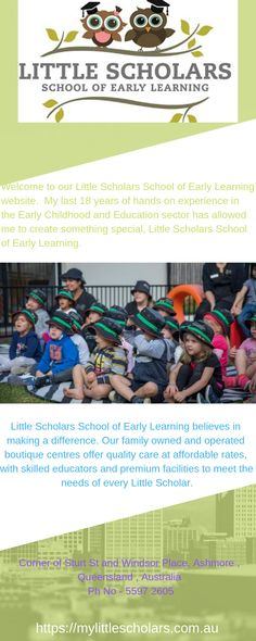 Little Scholars early learning centres believe in making a difference. Our family owned and operated boutique centres offer quality care at affordable rates, with skilled educators and premium facilities to meet the needs of every Little Scholar. Learning Centers, Early Learning, Childcare, Early Childhood, Preschool, Believe, Meet, Boutique, Education