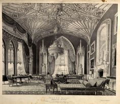 Inside the drawing room at Eaton Hall, England House Drawing, Drawing Room, Eaton Hall, Victorian Hall, Architecture Mapping, English Manor Houses, Castles In England, Formal Gardens, Country Estate