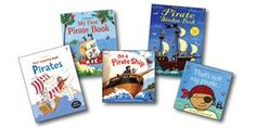 The titles in this collection include: Pirate Sticker Book (P), Thats Not My Pirate (BD), First Coloring Book Pirates (P), On a Pirate Ship (H), and My First Pirate Book (BD).