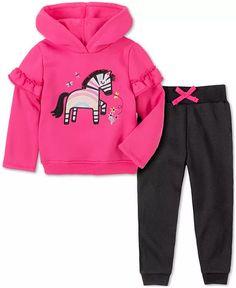 Kids Headquarters - Baby Girls 2-Pc. Zebra Hoodie & Pants Set Fleece Pants, Knit Pants, Teclado Qwerty, Kids Headquarters, Hooded Sweatshirts, Hoodies, Holiday Outfits, Little Girls, Baby Girls