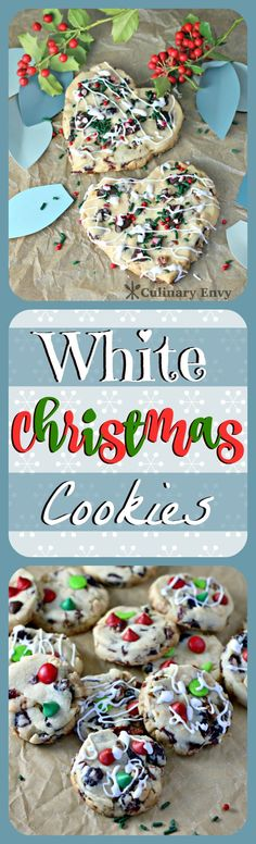 White Christmas Cookies - so quick and easy, with only 7 ingredients including instant White Chocolate Pudding. They are buttery sweet with a slight hint of salt. They absolutely MELT in your mouth! Holiday Cookies, Holiday Treats, Holiday Recipes, Christmas Recipes, Holiday Foods, Christmas Snacks, Christmas Cooking, Christmas Goodies, Sweets Recipes