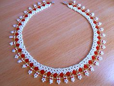 boncuk işi takı yapımı — Yandex.Görsel – Free pattern for amazing beaded necklace Sicily Beads Magic.