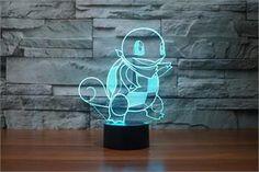 Pokemon Go Kawaii Squirtle 3D LED Night Light - 7 color change