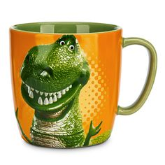 """Some dinosaurs are too cute to be scary. """"LITTLE ARMS - BIG ROAR!"""" REX THE DINOSAUR COFFEE MUG #Disney #Pixar"""