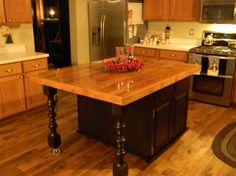 reclaimed designworks wine barrel wood kitchen island countertop