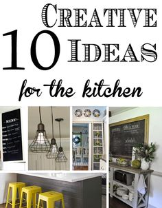 10 Creative Ideas to add your personal style to your kitchen. Kitchen Makeovers and design should have your own personal touch.