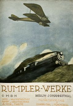 WWI 1916 German Rumpler Aviation Aircraft