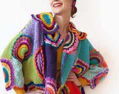Plus tamaño de la ropa, moda Extra largo talla grande abrigo Cardigan Sweater - hecho a pedido