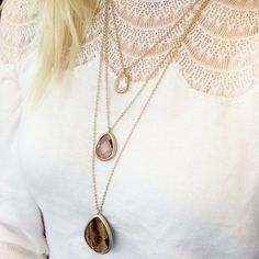 3pc OCEAN JEWELERS Statement Necklace Stunning when layered or worn alone, the gemstones take on a life of their own no matter what you wear. Ocean Jewelers Jewelry