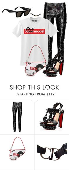 """Untitled #1577"" by styledbyjovonxo ❤ liked on Polyvore featuring Emilio Pucci, Christian Louboutin and Christian Dior"
