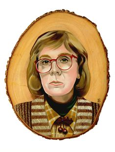 'Log Lady' tribute piece oil wo - emmamount | ello