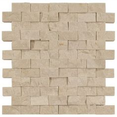 Part of our Casa Antica collection of mosaic marble this split face brick mosaic works well both Interiors and out. Split faced marbles give wonderful texture and depth to any room. Consider using it for your kitchen backsplash or your fireplace surround. Available in multiple colors and sizes to complete your installation needs. Sold as a 1in. x 2in. tile on a 12in. x 12in. meshmount for easy installation. Marble is a natural stone and due to characteristics of natural stones each piece of…