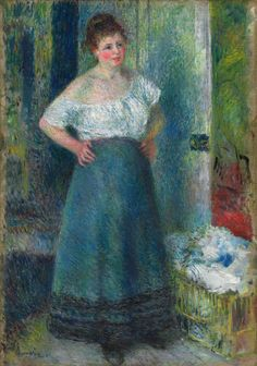 The Laundress (1877-1879)  Pierre-Auguste Renoir  Oil on Canvas  Art Institute of Chicago