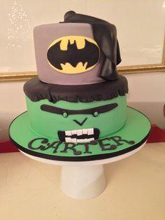 Batman and Hulk Cake, by Amy Hart
