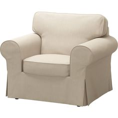 IKEA EKTORP Armchair Nordvalla dark beige Seat cushions filled with high resilience foam and polyester fibre wadding give comfortable support for your. Ikea Chair Cushions, Chaise Ikea, Ikea Armchair, Slipcovers For Chairs, Recliner Chairs, Blue Armchair, Dining Chairs, Ikea Elvarli, Ektorp Sofa