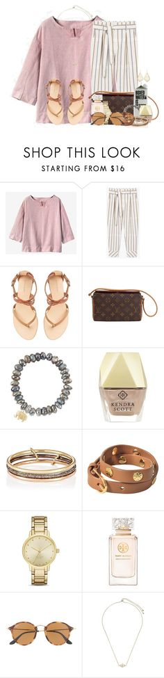 """""""I need fashion advice ASAP.. RTD"""" by flroasburn ❤ liked on Polyvore featuring MANGO, Witchery, Louis Vuitton, Sydney Evan, Kendra Scott, SPINELLI KILCOLLIN, Tory Burch, Kate Spade and Ray-Ban"""
