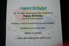 Items similar to Funny Birthday Card, Rude or Clean Card - You Choose, Kids Love Clean Version, on Etsy Canada Funny, Funny Birthday Cards, Funny Cards, Card Designs, Get Well, White Envelopes, To Tell, Cool Words