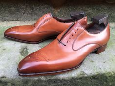 G&G Strand in Vintage Chestnut Calf on the Deco Last