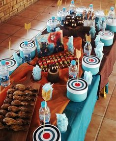 Brave Party Table!! 3rd Birthday Idea here we come