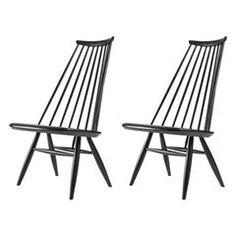 """Pair of """"Mademoiselle"""" Lounge Chairs by Ilmari Tapiovaara for Asko"""