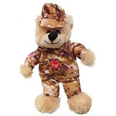 1 X God Bless the USA Army Singing Teddy Bear  A singing 9 inch tall blonde stuffed teddy bear dressed in US ARMY camo cap, jacket, and pants. Sings GOD BLESS THE USA BY LEE GREENWOOD WHEN YOU SQUEEZE ITS BODY! Features : 9 INCHES TALL *LIGHT BLONDE FUR AS PICTURED *ARMY CAMO OUTFIT *SINGS GOD BLESS THE USA SONG WHEN SQUEEZED Product weight : 0.3 pounds