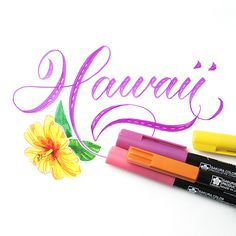 I Still Love You by Melissa Esplin: Hawaii Brush Calligraphy Workshop