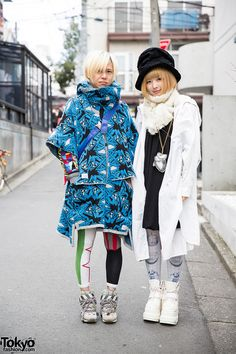 Takuma & Friend in Harajuku, Takuma – on the left with blond hair – Rarma – on the right