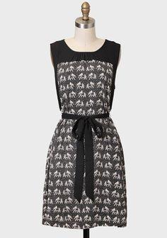 Dynasty Elephant Print Dress