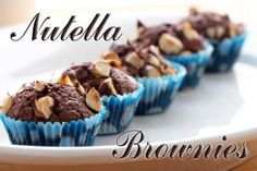Divine Nutella brownie cupcakes with just 3 ingredients 3 Ingredient Nutella Brownies, Easy Nutella Brownies, Nutella Cupcakes, Brownie Cupcakes, Nutella Cookies, Homemade Brownies, Mini Cupcakes, Cupcake Recipes, Baking Recipes