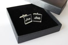 motorcycle cufflinks by CutOutsProductDesign on Etsy