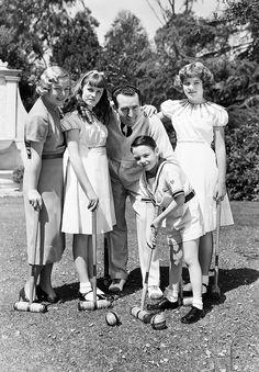 Harold Lloyd & Mildred Davis with their children