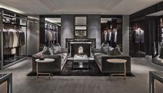 Sexy grey closet with plush grey carpeting. Masculine look and feel. Plush carpeting available at Express Flooring in Phoenix, Arizona.