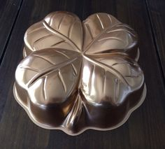 Vintage Four Leaf Clover Mold copper by MyVintageApartment on Etsy