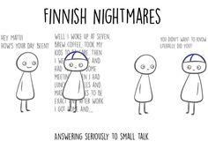 Kuvakaappaus Finnish Nightmares -sarjakuvista.
