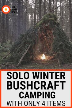 Join me on a Solo bushcraft camp. On this trip I choose 4 items of camping gear to take with me winter camping. I build a natural shelter, and cook wild game over the fire. This was a fun test of my winter camping skills, and a fun bushcraft overnighter. Winter Camping, Diy Camping, Camping With Kids, Camping Gear, Camping Hacks, Camping Equipment, Camping Solo, Backpacking Tips, Camping Survival