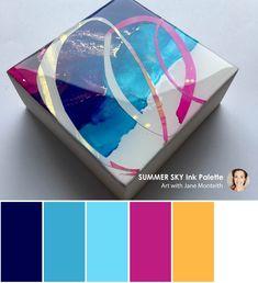 """4"""" MOD Mini Summer Sky colour palette.  #color #colorpalettes"""