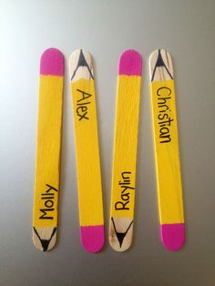 Jazz up classroom Stick Picks by painting Popsicle sticks to look like pencils :)