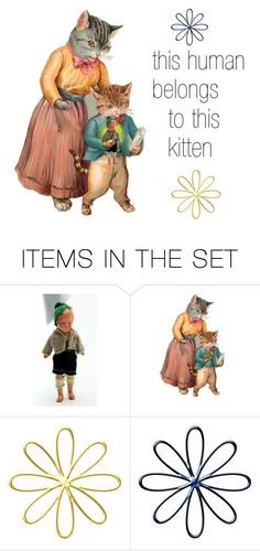 """""""Pet"""" by seasidecollectibles ❤ liked on Polyvore featuring art, kitty and etsyevolution"""