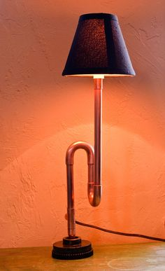 Copper desk lamp by Fancifulwood on Etsy