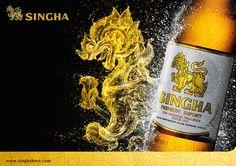 SIngha beer Original thai beer Sinnce 1933 Print thematic 2015-2016