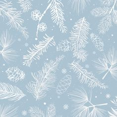 Blue background with winter decoration vector Free Vector Pastel Blue Background, Snowflake Background, Winter Background, Background Patterns, Textured Background, Christmas Background, Blue Backgrounds, Wallpaper Backgrounds, Bokeh
