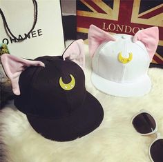 """Kawaii cat ear hat Use this code: """"cherry blossom"""" get 10% Off everytime you shop at (www.sanrense.com)"""