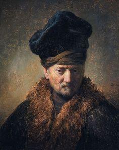 Rembrandt Harmenszoon van Rijn - Bust of an Old Man in a Fur Cap.JPG