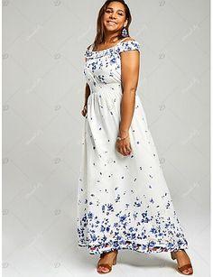 adab18aed51 Fashion A Line Dresses Women's Basic Dress - Geometric White Navy Blue XXXL  XXXXL XXXXXL. Cheap Maxi DressesPlus Size Maxi DressesShort Sleeve ...