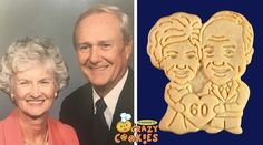 Congrats to 60 years of marriage! | 60th Anniversary #AnniversaryGift #cookies #giftideas #60thanniversary
