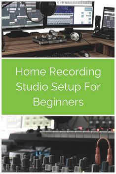 There are 7 main components that should be on any beginner's home recording studio list. These are the key essentials needed to make good quality recordings at home. This post covers all you need to know about picking the right audio interface, midi controller, mic and software so that you can make successful professional quality recordings. There are also links to loads of tutorials and how-to guides on home recording to help you get started