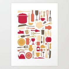 Kitchenware Art Print