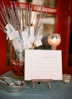 June 3 2013 - www.BuySparklers.com Displaying Sparklers at Your Wedding:  Creative ideas for what to do with #sparklers at your #weddingreception or send off!