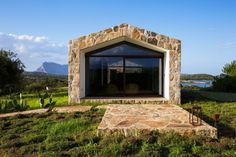 Image 2 of 57 from gallery of Stazzo d'Aldia House / Altromodoarchitetcts. Photograph by Simone Florena Home Library Rooms, House Rooms, New Home Designs, Cool House Designs, Creative Architecture, Stone Houses, Tropical Houses, Sardinia, Studio